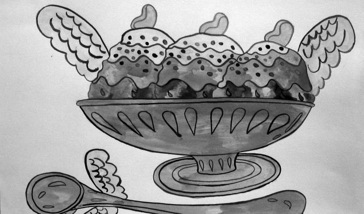 Aurie Ramirez, <em>Ice Cream</em>, detail.