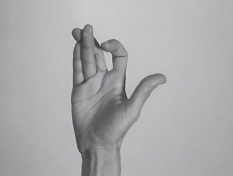 Yvonne Rainer, Hand Movie, 1966. 8 mm film.