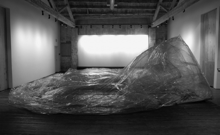 Alex Schweder, <em>A Sac of Rooms Three Times A Day</em>, 2006. Transparent vinyl, blown air, 6.4 × 8.5 × 2.75 meters. Courtesy of the artist and Howard House, Seattle.